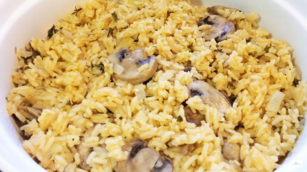 receta de arroz con pato y champoñones