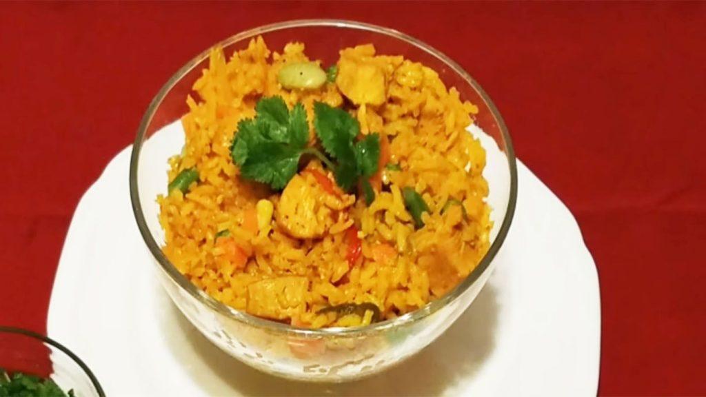 receta del arroz con pollo colombiano