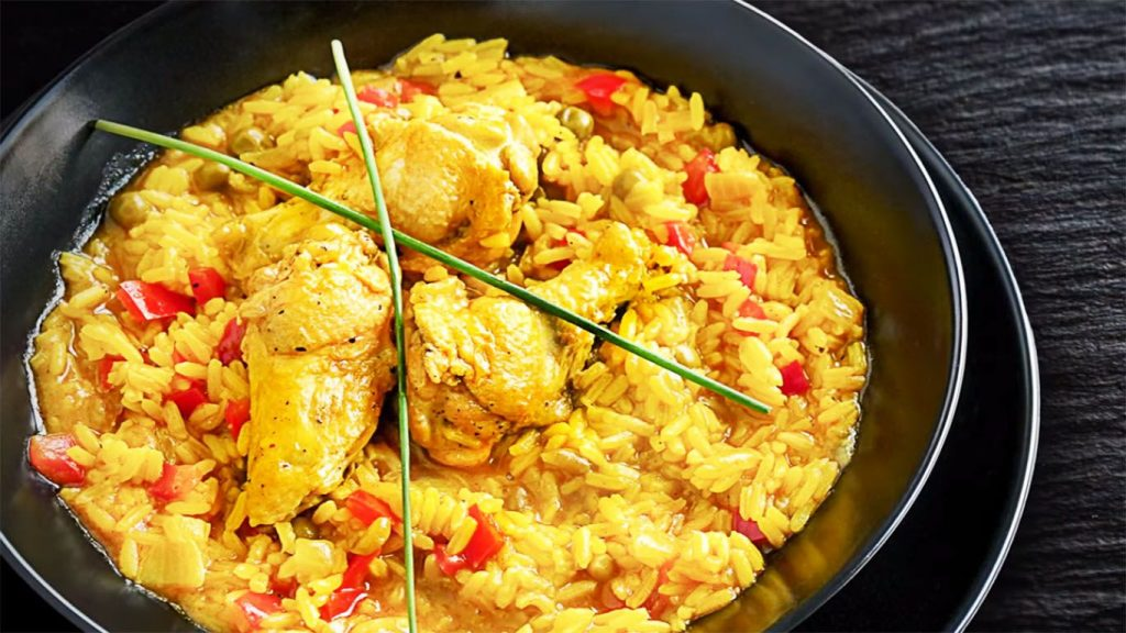 receta arroz con pollo y azafrán