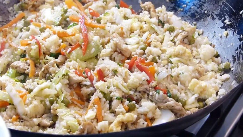 receta arroz con pollo y verduras