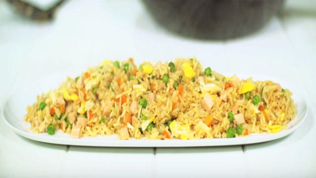 receta arroz con verduras y huevo