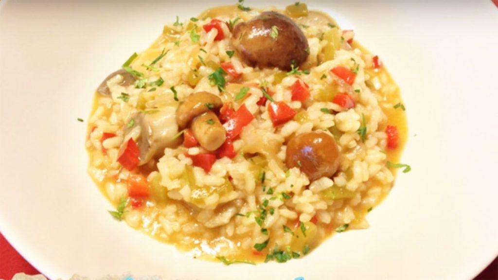 receta del arroz con verduras y setas