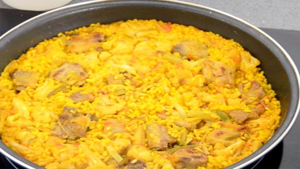 receta de arroz de coliflor con chancho