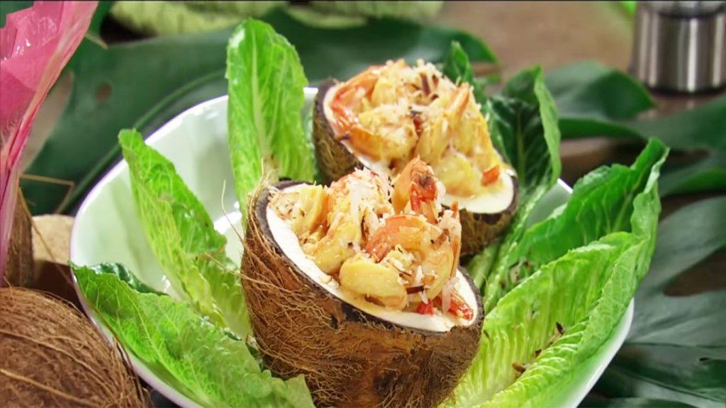receta de arroz con mariscos con coco