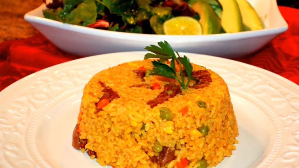 receta de arroz a la jardinera con chancho