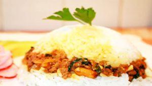 fotos de arroz tapado con mollejas