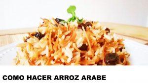 como cocinar arroz arabe