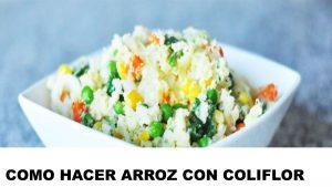 como cocinar arroz con coliflor