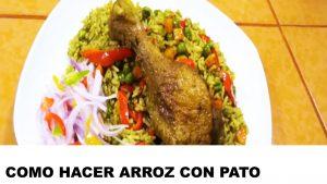 como cocinar arroz con pato