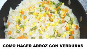 como cocinar arroz con verduras