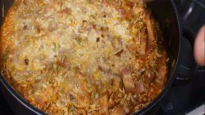 imagen de arroz a la milanesa con bacon