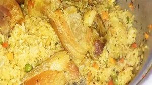 imagen de arroz a la milanesa con chancho