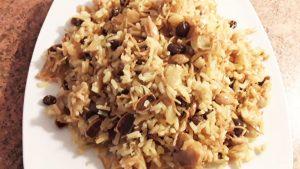 imagen de arroz árabe con almendras