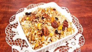 imagen de arroz árabe con pavo