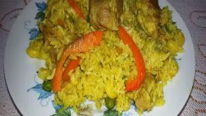 imagen de arroz con chancho verde