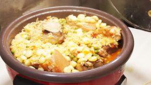 imagen de arroz con chancho y choclo