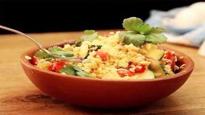 imagen de arroz con coliflor y verduras