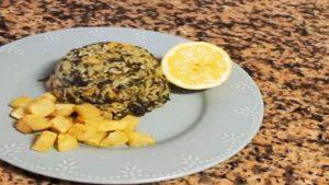imagen de arroz con espinacas y garbanzos