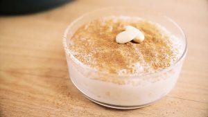 imagen de arroz con leche y almendras