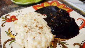 imagen de arroz con leche y mazamorra