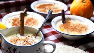 imagen de arroz con leche y nata
