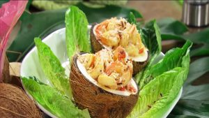 imagen de arroz de mariscos con coco