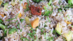imagen de arroz chaufa vegetariano