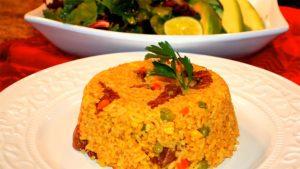 imagen de arroz a la primavera con chancho