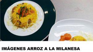 fotos de arroz a la milanesa