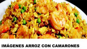 fotos de arroz con camarones