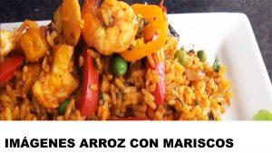 fotos de arroz con mariscos