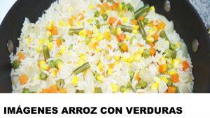 fotos de arroz con verduras