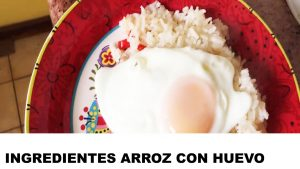 arroz con huevo ingredientes
