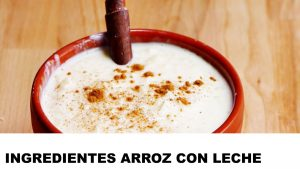 arroz con leche ingredientes